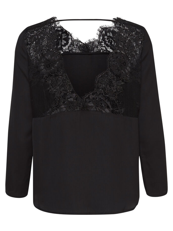 BLONDE BLUSE, Black, large