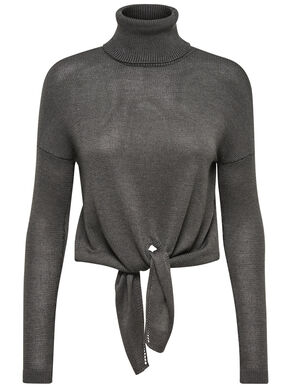 ROLL NECK KNITTED PULLOVER