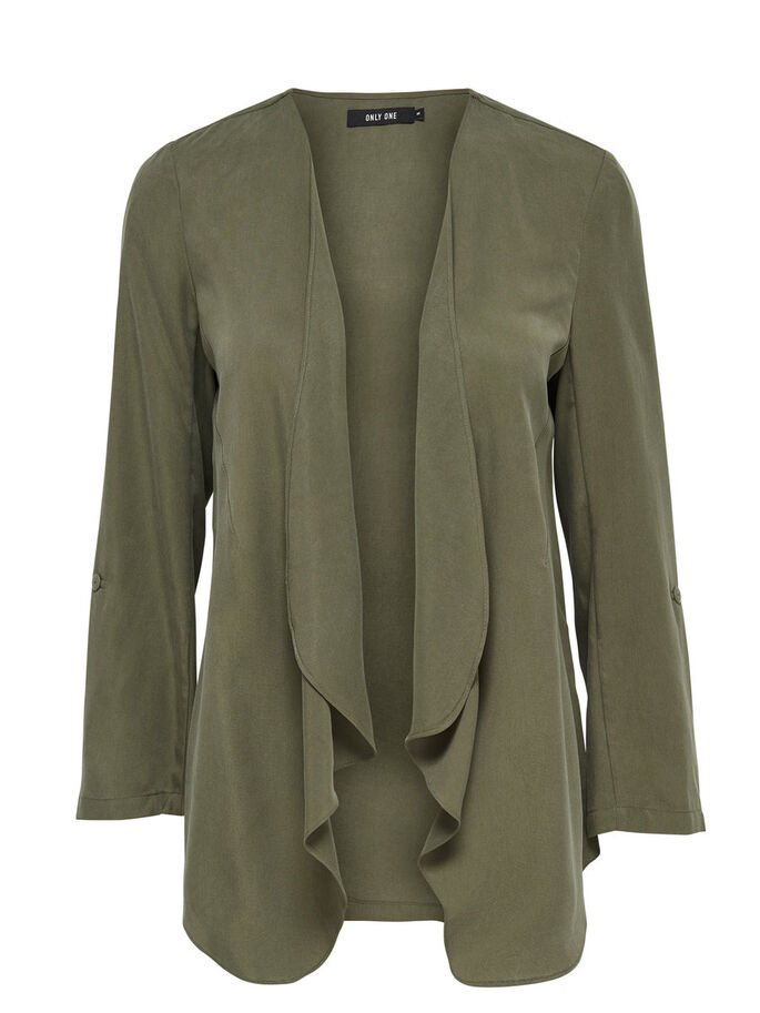 DRAPY BLAZER, Dusty Olive, large