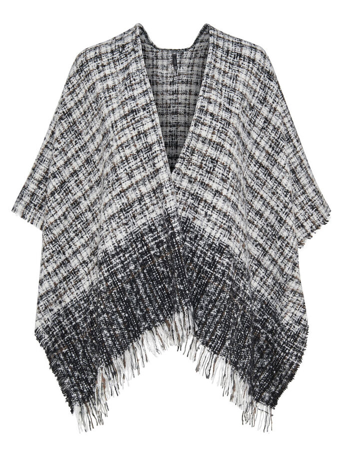 CONTRAST PONCHO, Cloud Dancer, large