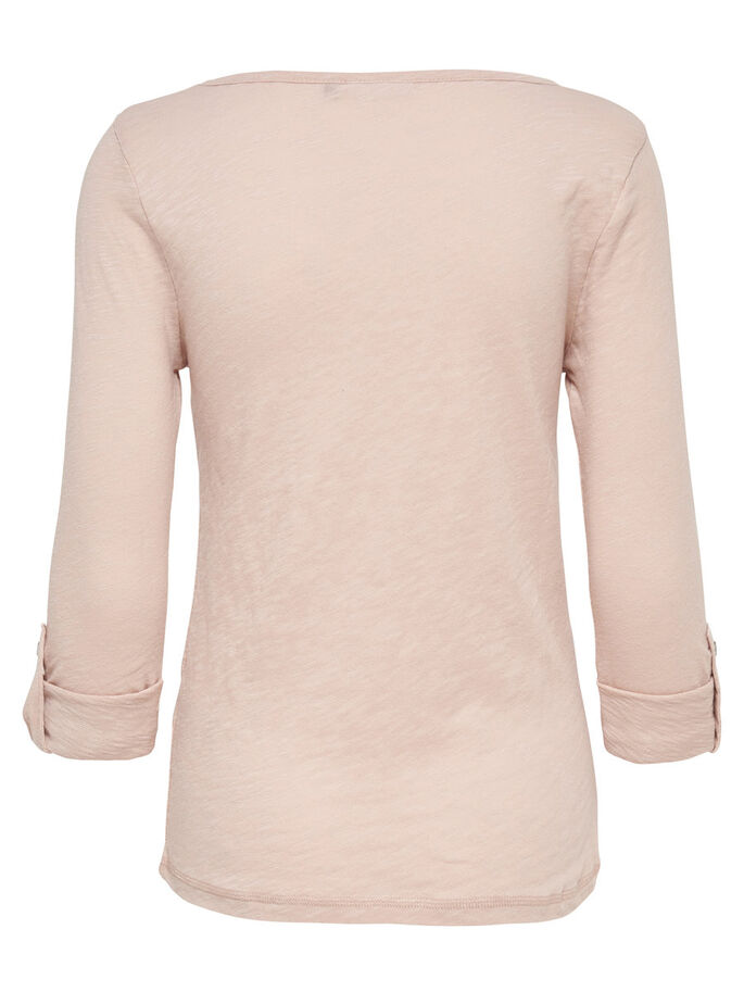PRINTED 3/4 SLEEVED TOP, Rose Dust, large