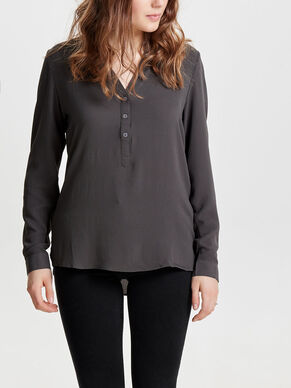 SOLID LONG SLEEVED TOP