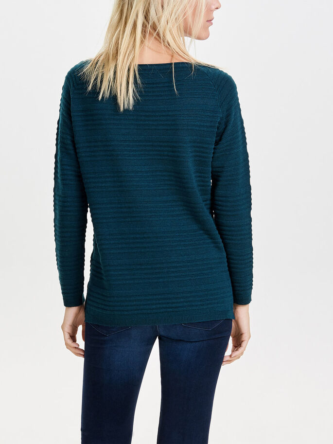 DETAILED KNITTED PULLOVER, Reflecting Pond, large