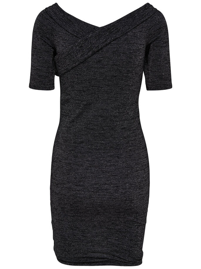 WRAP DRESS, Black, large