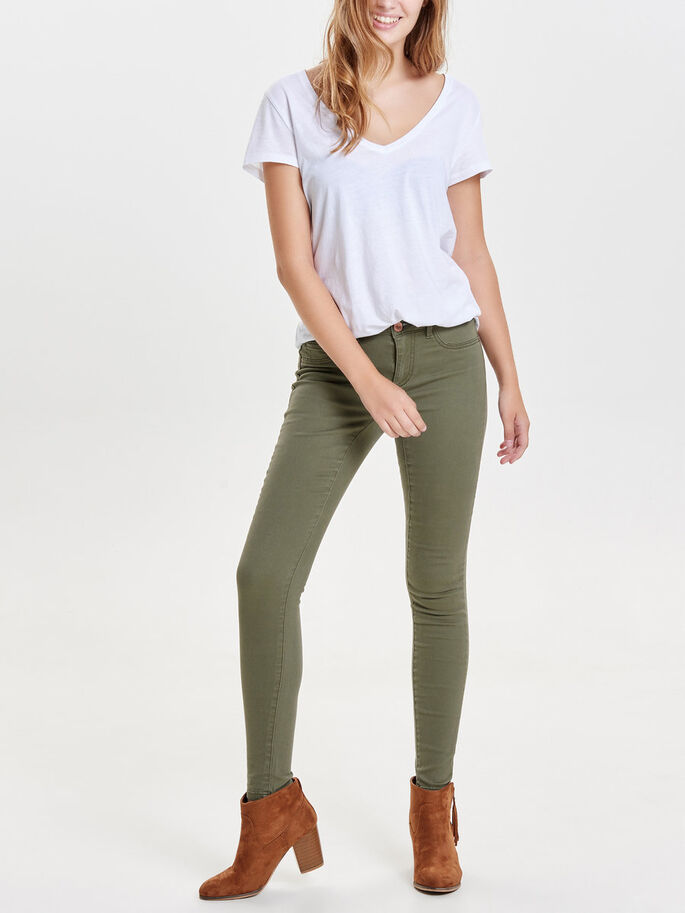 JDY FIVE SKINNY FIT JEANS, Ivy Green, large