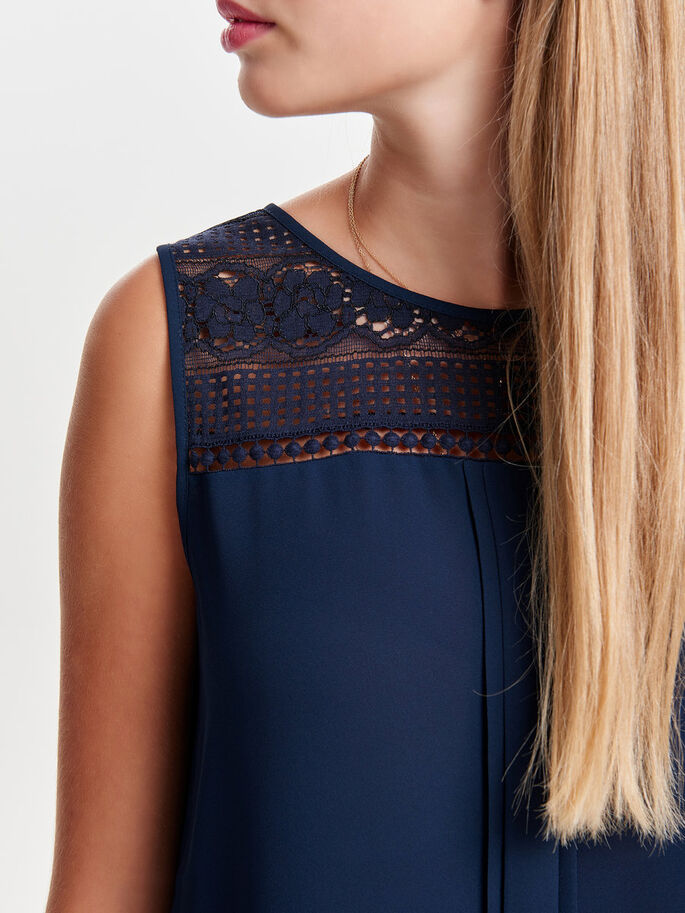 LACE DETAILED SLEEVELESS TOP, Night Sky, large