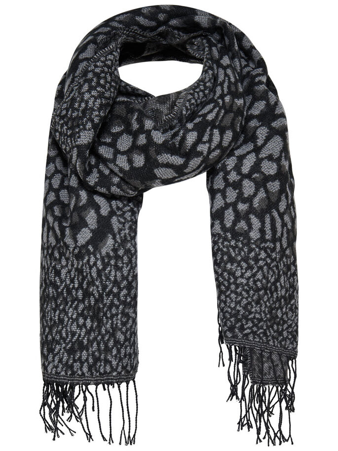 JACQUARD SCARF, Black, large