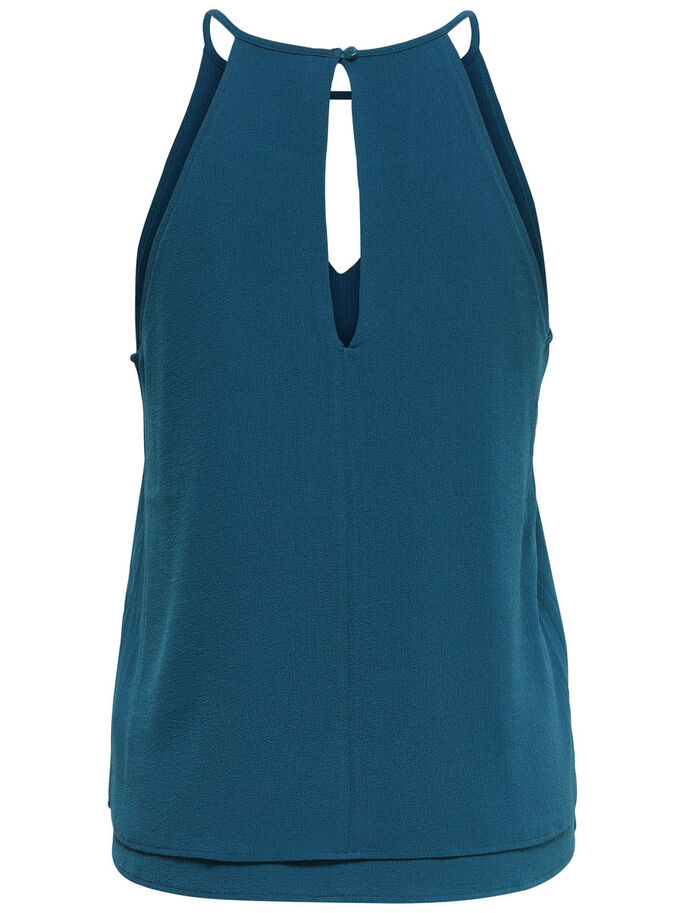 DETAILED SLEEVELESS TOP, Reflecting Pond, large