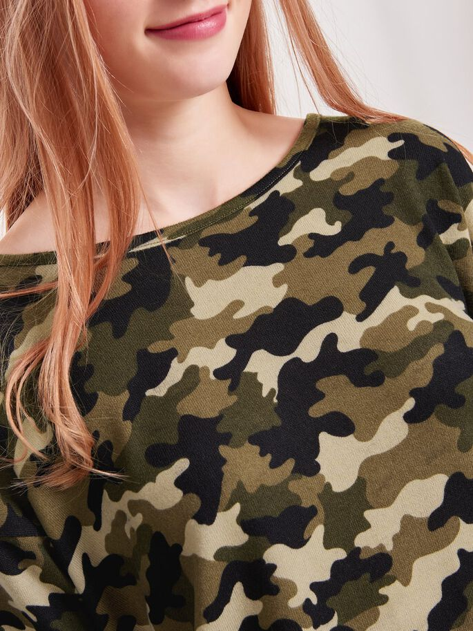LOOSE LONG SLEEVED TOP, Ivy Green, large