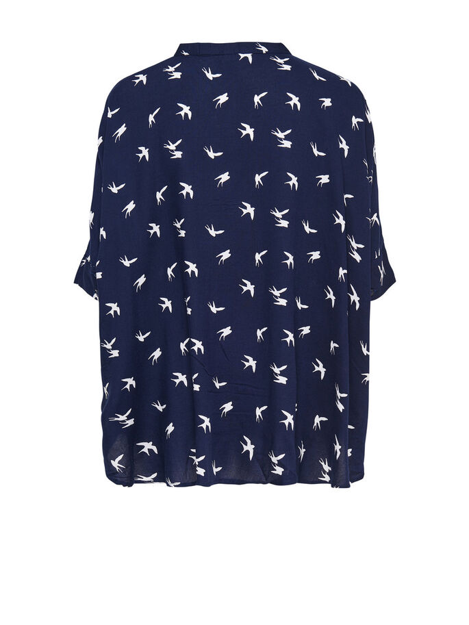 RUIMVALLEND SHIRT MET 2/4 MOUWEN, Night Sky, large