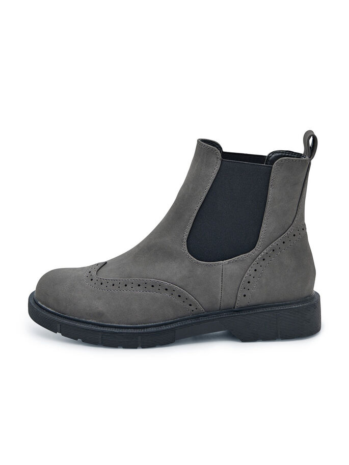 LEATHER LOOK BOOTS, Grey, large