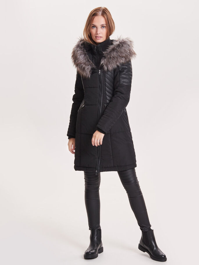 LONG COAT, Black, large