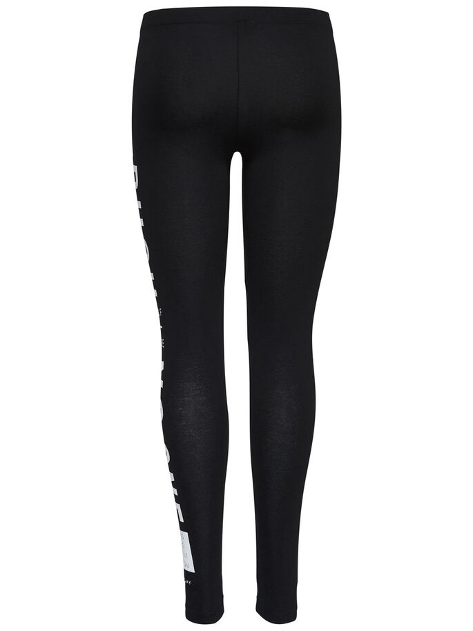 JERSEY SPORTS LEGGINGS, Black, large
