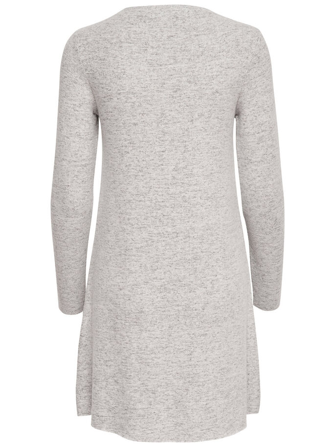 ROLLNECK KNITTED DRESS, Light Grey Melange, large