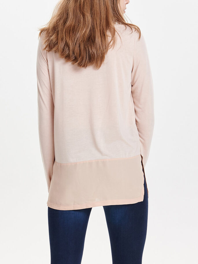 DETAILED LONG SLEEVED TOP, Moonlight, large