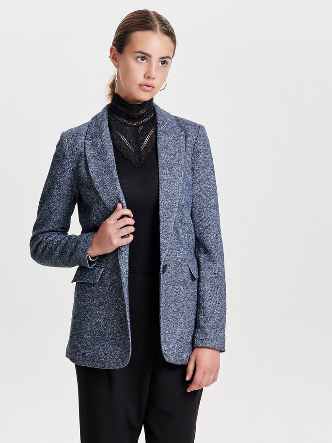 LANGE BLAZER, Dark Navy, large