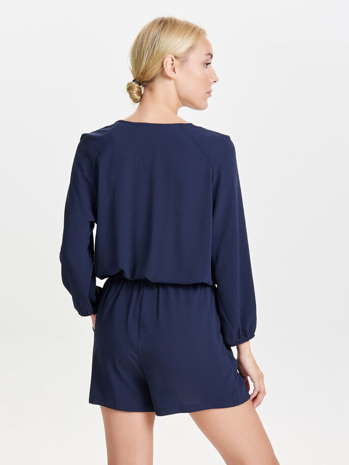 LONG SLEEVED PLAYSUIT, Night Sky, large