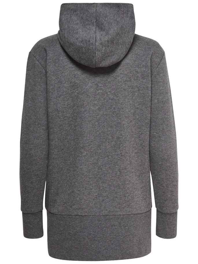 LÅNG SWEATSHIRT, Dark Grey Melange, large