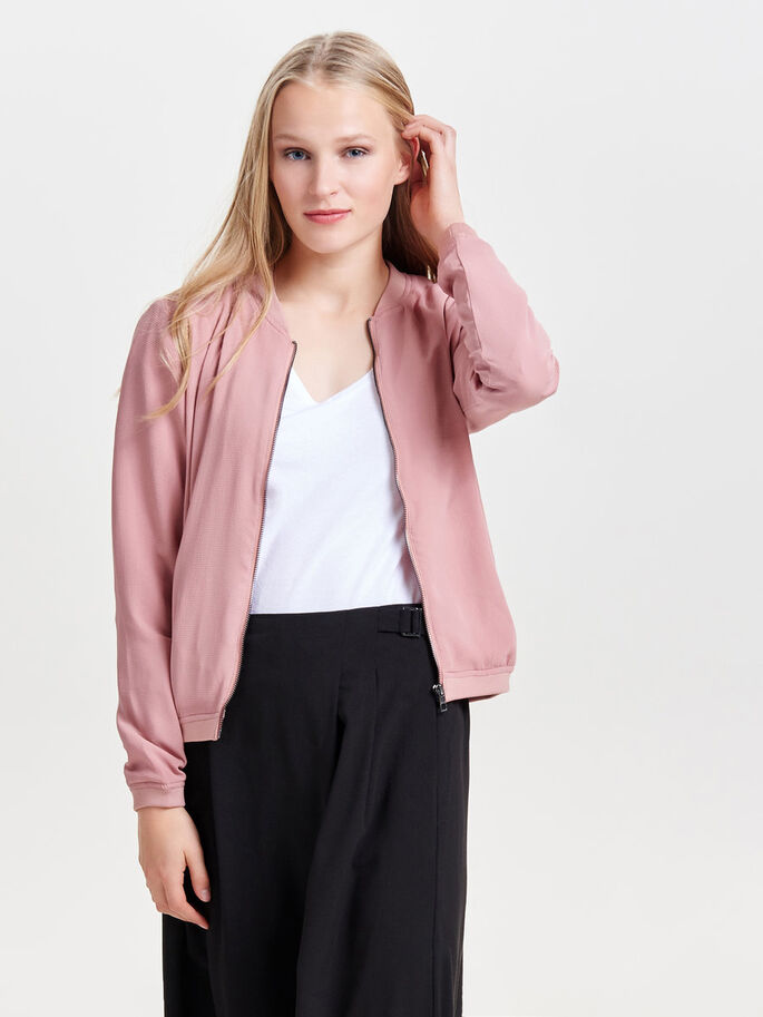 BOMBER JAKKE, Ash Rose, large
