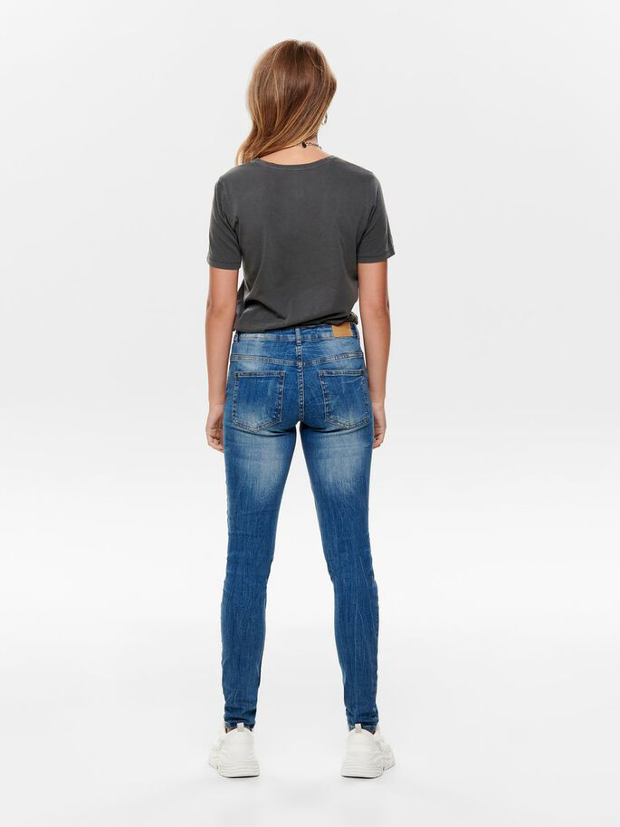 JDY FLORA LÅGA SKINNY FIT-JEANS, Medium Blue Denim, large