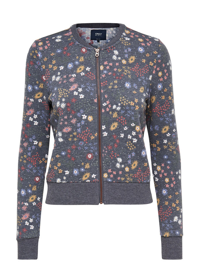 BLOUSON AVIATEUR BLOUSON EN MOLLETON, Night Sky, large
