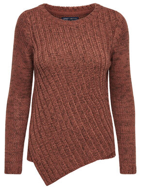 ASYMMETRIC KNITTED PULLOVER