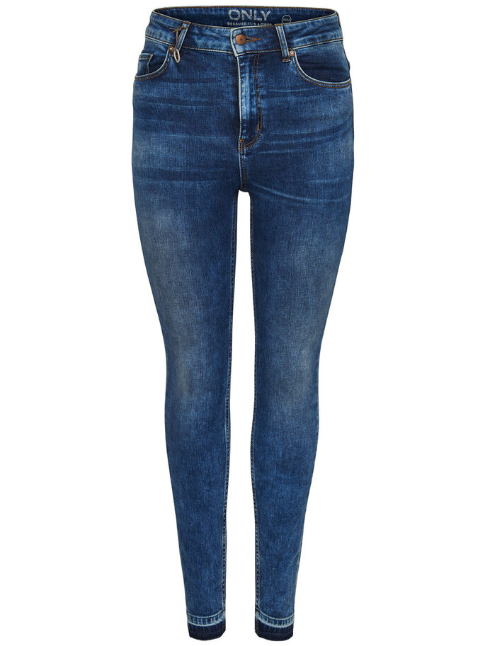 CORAL HIGH ANKLE SKINNY FIT JEANS, Medium Blue Denim, large
