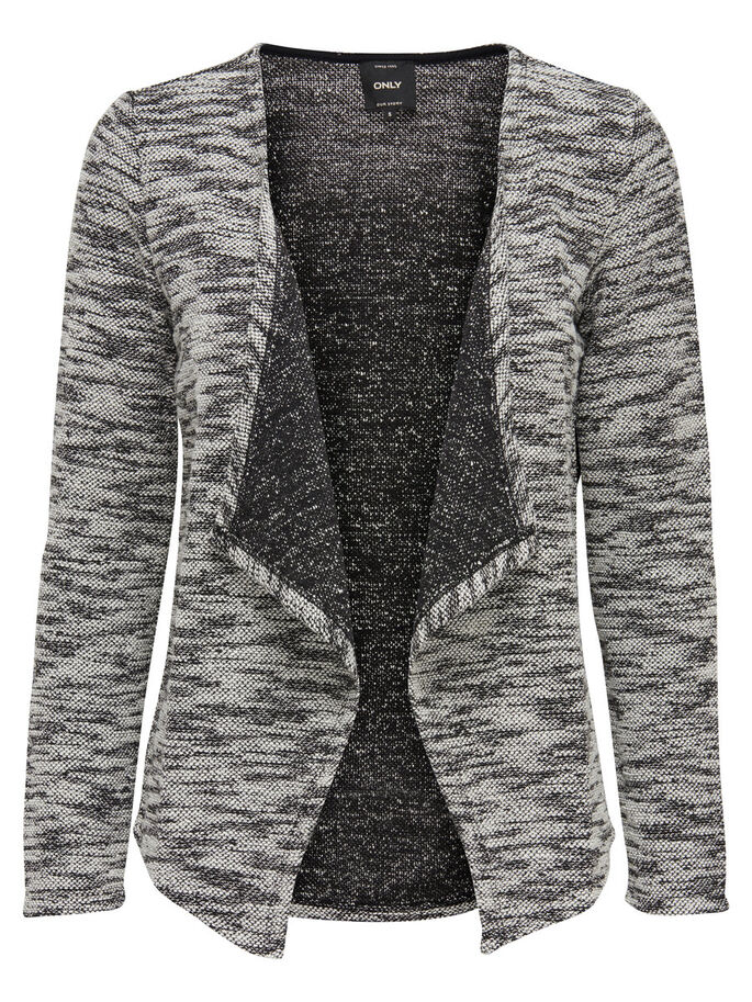 DRAPY CARDIGAN, Black, large