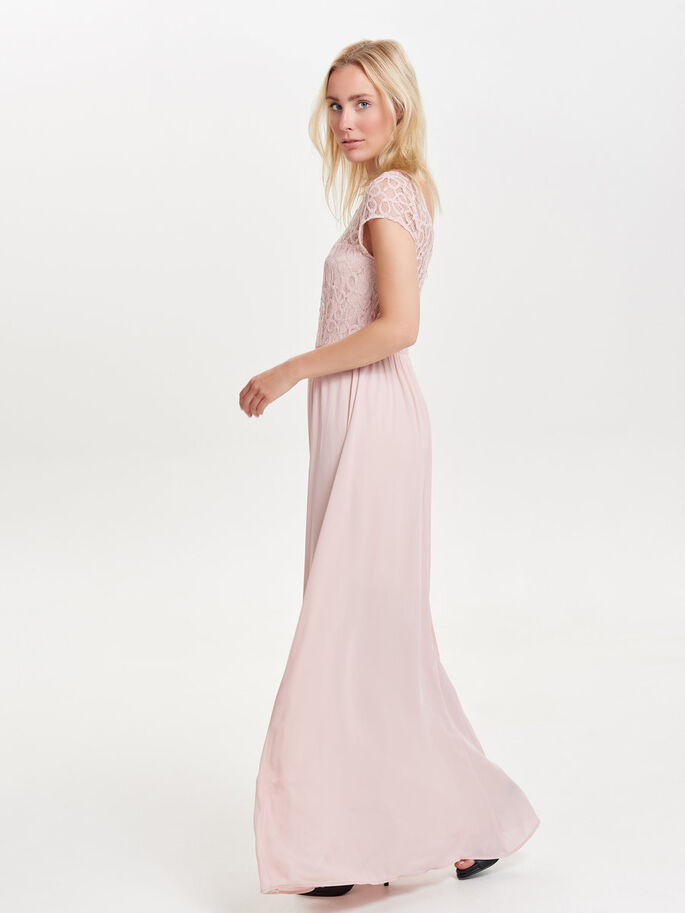 KANTEN MAXI JURK, Rose Smoke, large