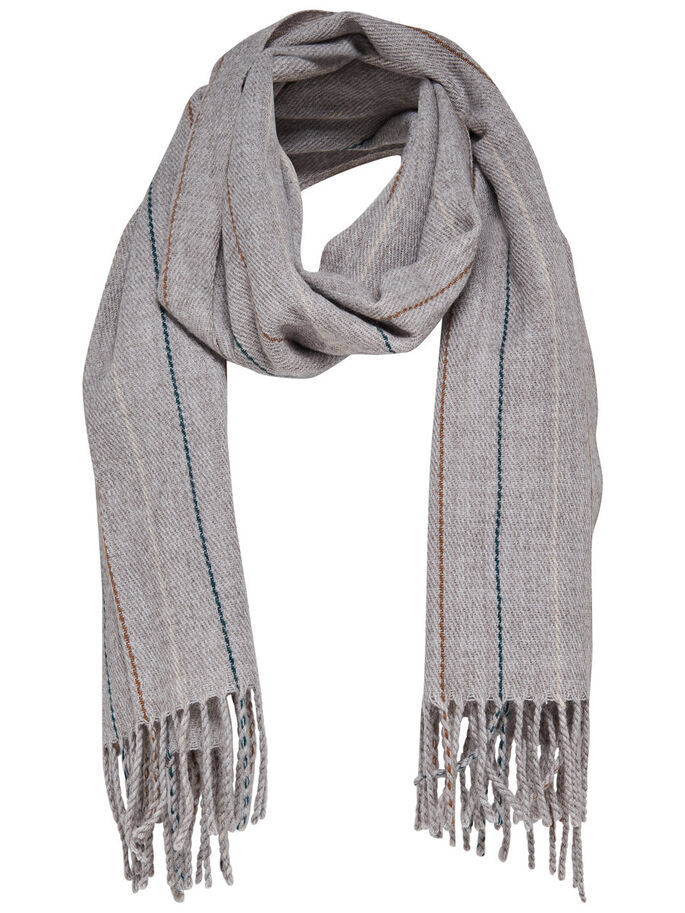 DE LANA BUFANDA, Light Grey Melange, large