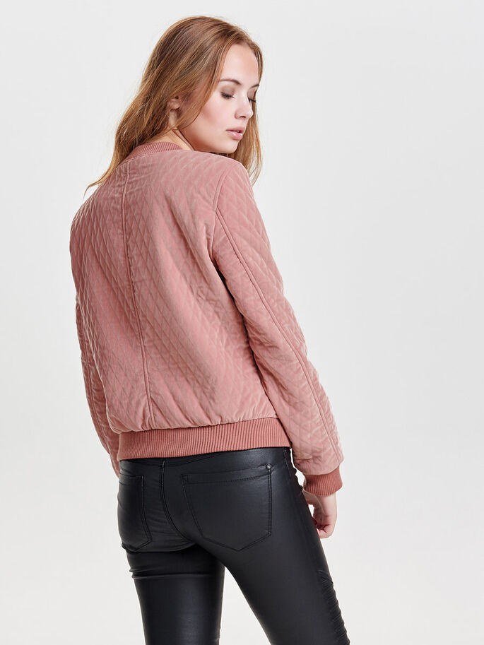 BOMBER JACKET, Ash Rose, large
