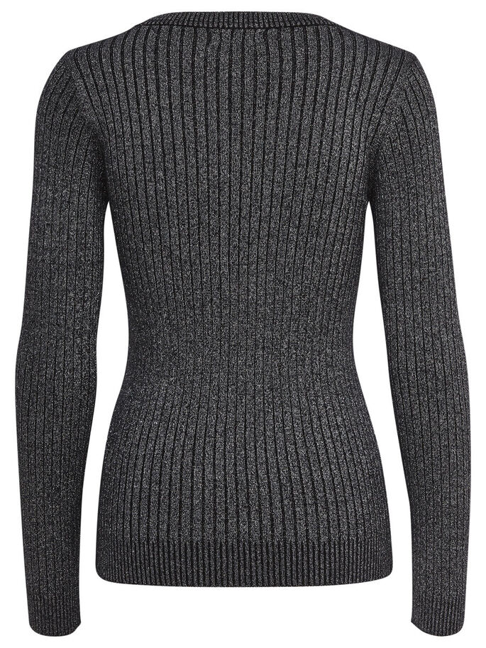 GLITZER- STRICKPULLOVER, Black, large