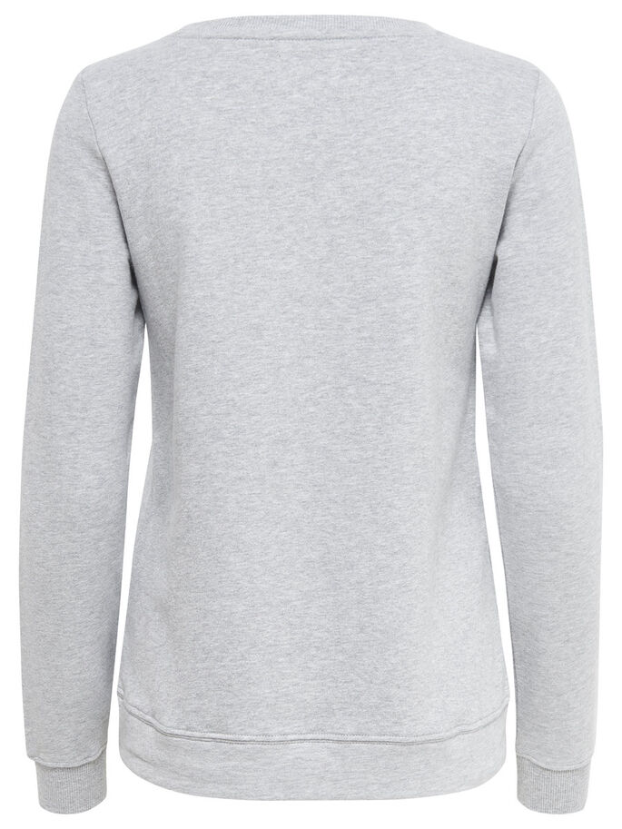 PRINTET SWEATSHIRT, Light Grey Melange, large