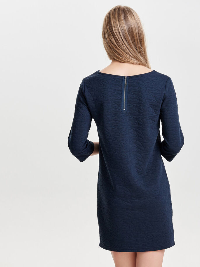 3/4 SLEEVED SWEAT DRESS, Sky Captain, large