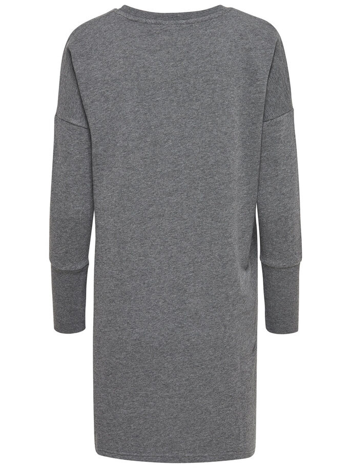 SWEAT DRESS, Dark Grey Melange, large
