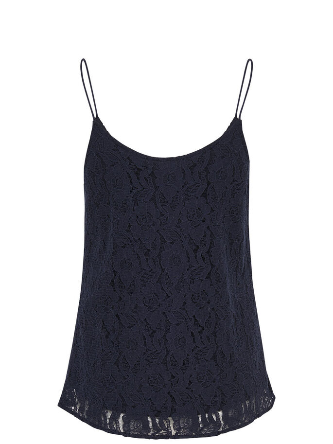 LACE SLEEVELESS TOP, Night Sky, large