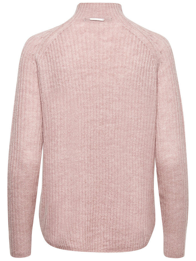 STEHKRAGEN- STRICKPULLOVER, Adobe Rose, large