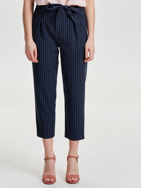 PINSTRIPE ANKLE TROUSERS