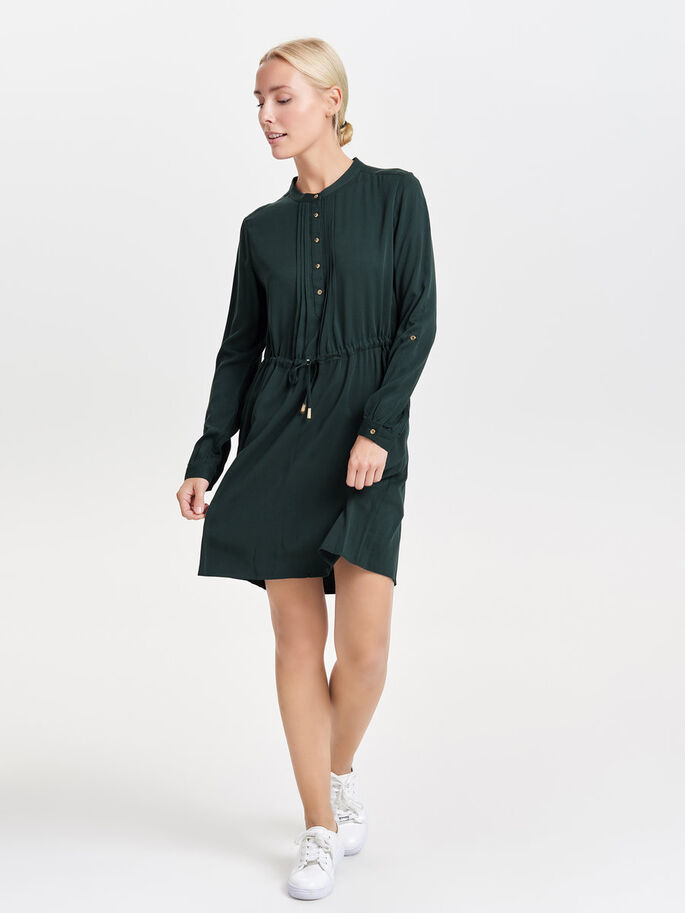 DETAILED LONG SLEEVED DRESS, Scarab, large