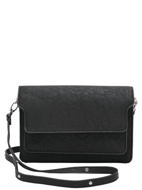 LEATHER LOOK CROSSBODY BAG