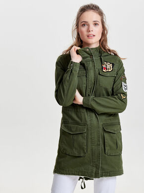CANVAS BADGE PARKA COAT