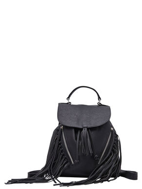 FRINGE LEATHER LOOK BAG