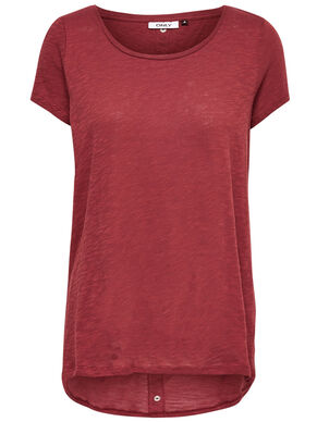 LOOSE SHORT SLEEVED TOP