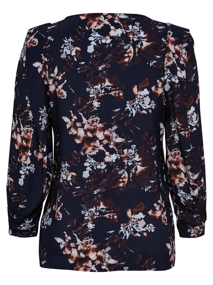 PRINTED LONG SLEEVED TOP, Deep Well, large