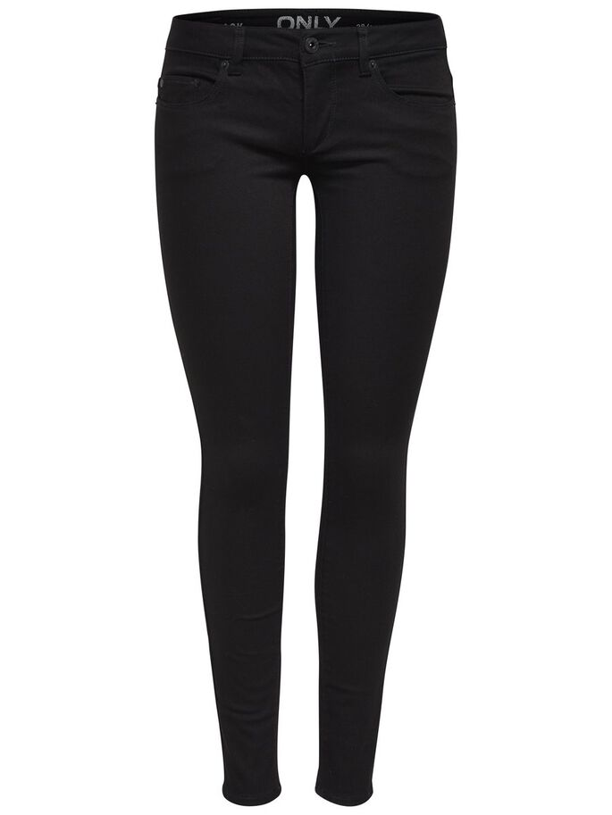 CORAL SUPERLOW SKINNY FIT JEANS, Black, large
