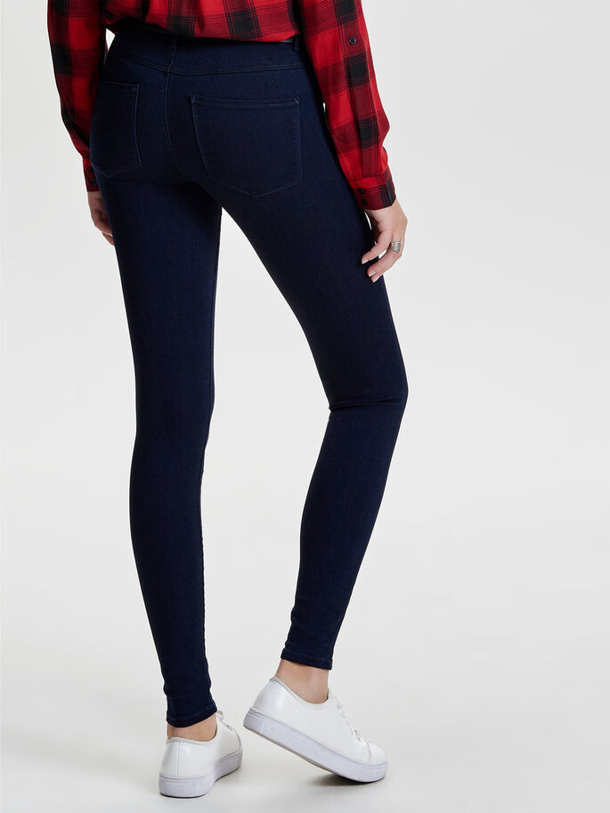 RAIN REG SKINNY JEANS, Dark Blue Denim, large