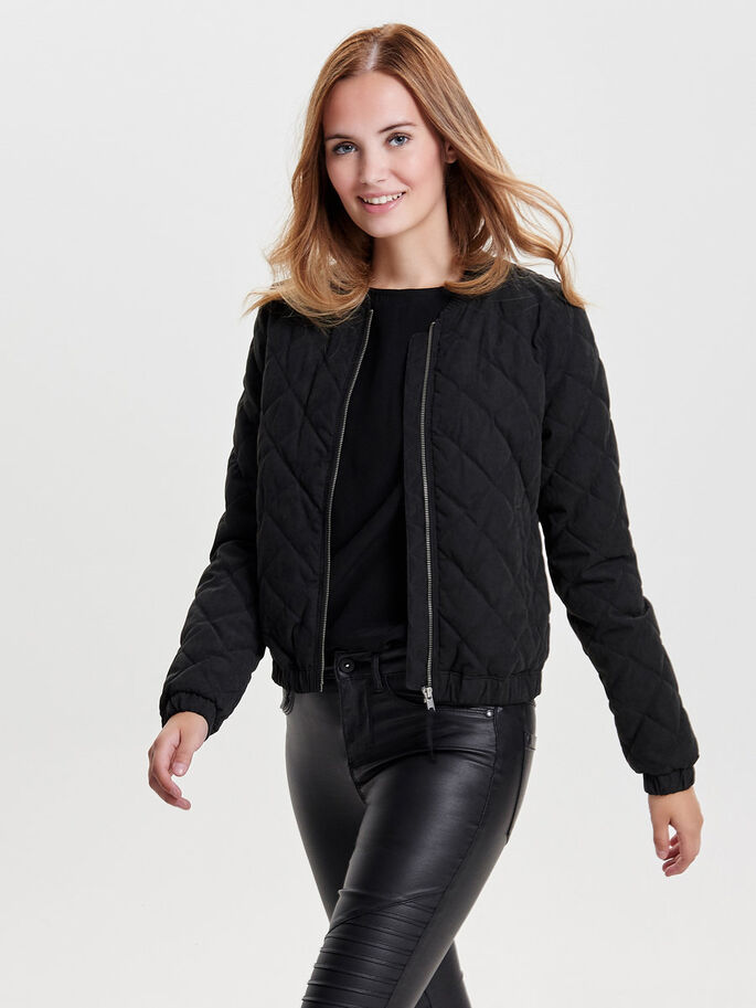 BLOUSON- STEPPJACKE, Black, large