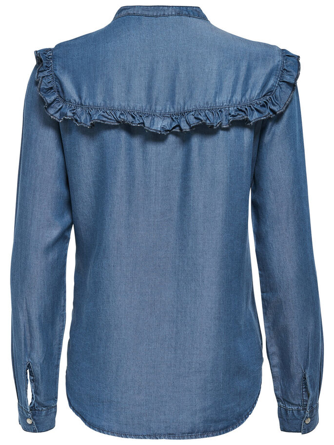 LANGÄRMELIGES HEMD, Light Blue Denim, large