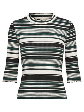 STRIPED 3/4 SLEEVED TOP