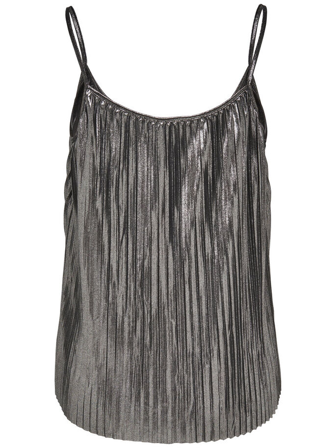 PLISADO TOP SIN MANGAS, Grey, large